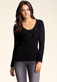 bebe Studded Chenille Sweater