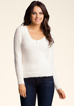bebe Studded Chenille Sweater