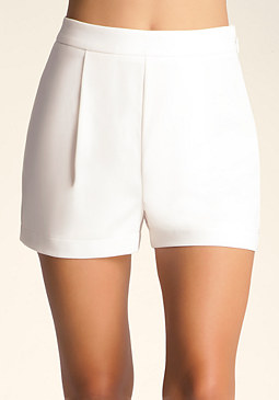 bebe Single Pleat Front Shorts