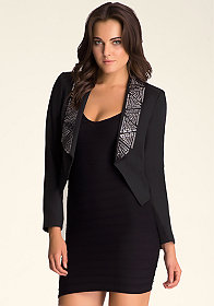 Embellished Lapel Jacket at bebe