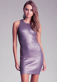 Foiled Keyhole Dress at bebe