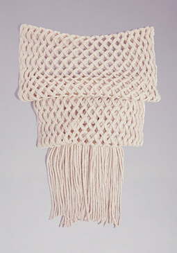 bebe Metallic Diamond Scarf