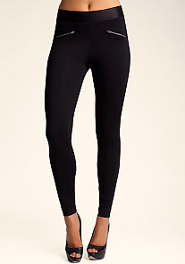 bebe Zip Up Leggings at bebe