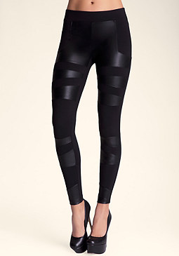 bebe Pieced Techie legging