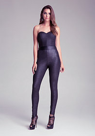 bebe Sweetheart Tie Back Jumpsuit