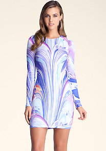 Printed Bodycon Dress at bebe