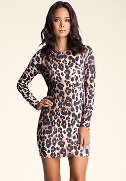 Leopard Bodycon Dress at bebe
