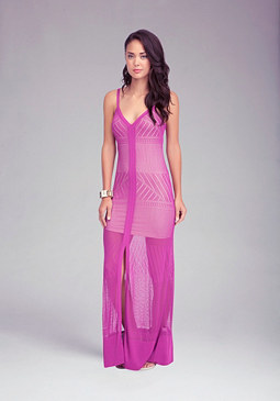 bebe Petite Strappy Maxi Dress