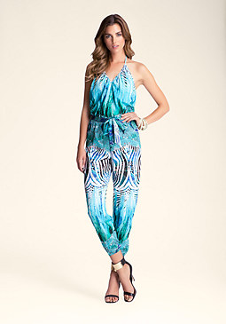 bebe Halter Neck Faux Jumpsuit