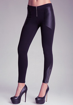 bebe Liquid Block Leggings
