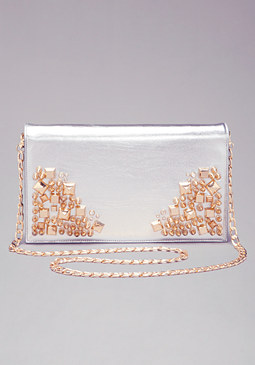bebe Zoe Embellished Clutch