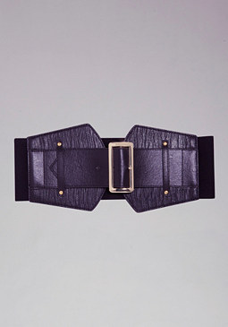 bebe Wide Lizard Tab Stretch Belt