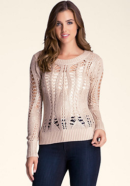 bebe Open Gauge Sweater