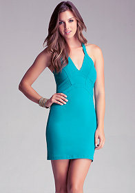 Claire Halter Bandage Dress at bebe
