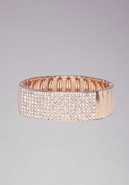 bebe Crystal ID Stretch Bracelet