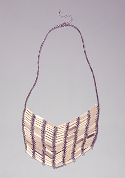 bebe Mixed Metal Bib Necklace