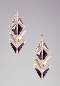 Rockstar Geometric Earrings at bebe
