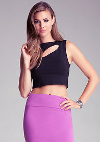 bebe Slit Crop Top