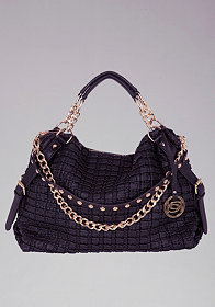 bebe Dominique Quilted Tote