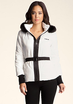 bebe Puffer Colorblock Jacket