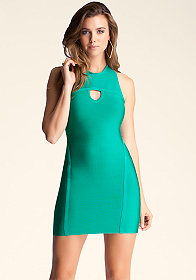 bebe Triangle Keyhole Dress