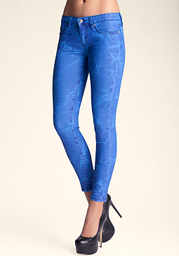 bebe Coated Deep Sea Skinny