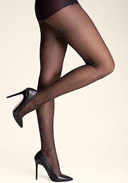 bebe Metallic Dot Tights
