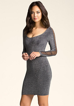 bebe Christy Slash Sleeve Dress