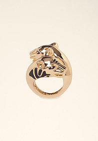 bebe Tiger Head Wrap Ring