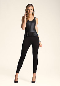 PEPLUM JUMPSUIT at bebe