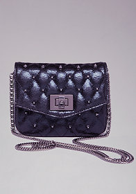 bebe Ava Quilted Mini Crossbody Bag