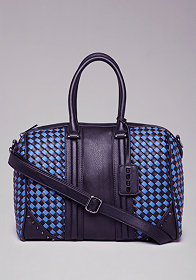 Veronica Woven Satchel at bebe