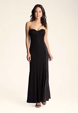 bebe Strapless Side Inset Dress