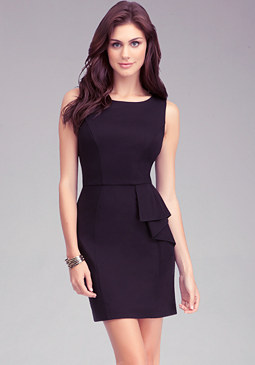 bebe Asymmetric Ruffle Dress