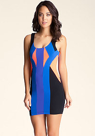 bebe Colorblock Scuba Dress