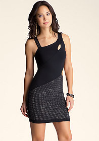 Studded Cutout Dress at bebe
