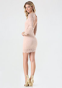 OPEN BACK LACE DRESS at bebe