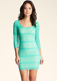 bebe Carolina Lace Dress