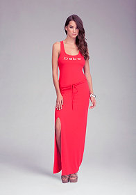 Logo Racer Maxi Dress at bebe