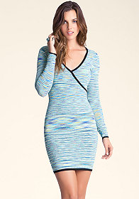 bebe Space Dye Wrap Dress
