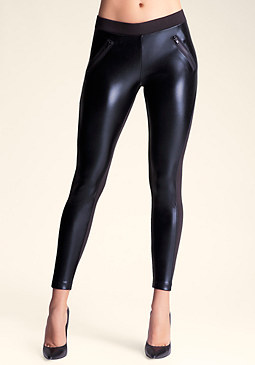 bebe Colorblock Zip Hip Legging