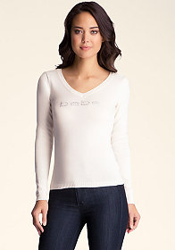bebe Crossback Double V-Neck�