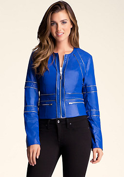 bebe Zippered Detail Jacket