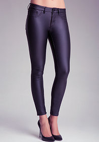 bebe Metallic Skinny Pants