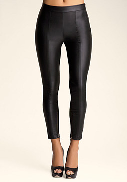 bebe Side Zip Panel Leggings