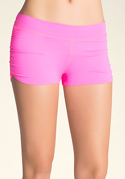 Pink Ruched Boy Shorts at bebe