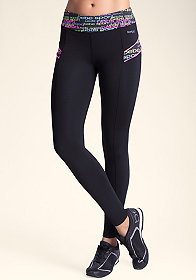 bebe Printed Piping Legging