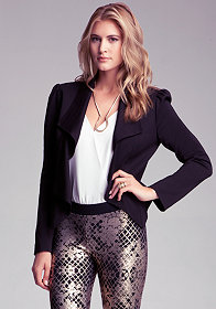 bebe Waterfall Lapel Blazer