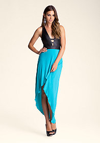 bebe Harlow High Low Dress