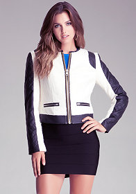 bebe Cropped Wool Jacket
